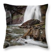 Baring Falls In Spring Throw Pillow