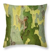 Bark Of A Sycamore Tree Throw Pillow