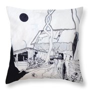 Barn 4 Throw Pillow by Rod Ismay