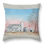 Barn And Sycamore Throw Pillow