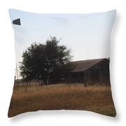 Barn And Windmill Throw Pillow