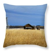 Barn And Windmill Stand Throw Pillow