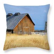 Barn In Calgary Throw Pillow