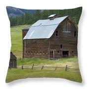 Barn On Bluett Throw Pillow
