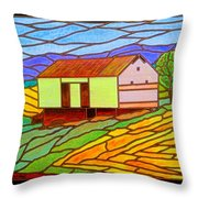 Barn On Springhill Road Throw Pillow