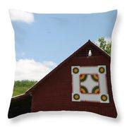 Barn Quilt - 2 Throw Pillow