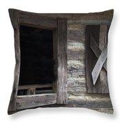 Barn Windows Throw Pillow