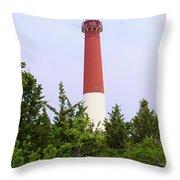 Barnegat Lighthouse Old Barney Long Beach Island Nj Throw Pillow