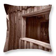 Barns Grand Tetons Throw Pillow