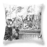 Barnums Museum, 1853 Throw Pillow
