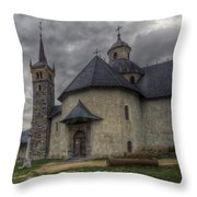 Baroque Church In Savoire France 6 Throw Pillow