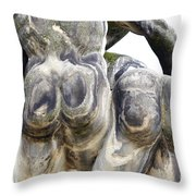 Baroque Statue - Detail - Backside Throw Pillow by Michal Boubin