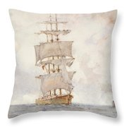 Barque And Tug Throw Pillow