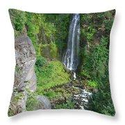 Barr Creek Falls Throw Pillow