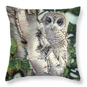Barred Owl II Throw Pillow