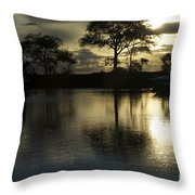 Barrie Harbour Sunrise Throw Pillow