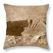 Barringer Crater Throw Pillow