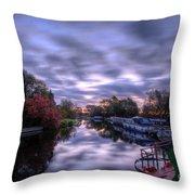 Barrow Sunrise In Motion Throw Pillow