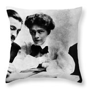 Barrymore Siblings, 1904 Throw Pillow