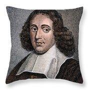 Baruch Spinoza (1632-1677) Throw Pillow