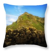 Basalt Rock Formations Near A Mountain Throw Pillow