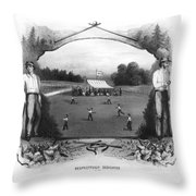 Baseball, 1861 Throw Pillow