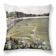 Baseball, 1866 Throw Pillow