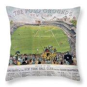 Baseball, 1887 Throw Pillow