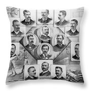 Baseball, 1894 Throw Pillow