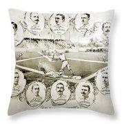 Baseball, 1895 Throw Pillow