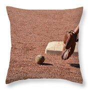 baseball and Glove Throw Pillow