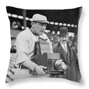Baseball: Camera, C1911 Throw Pillow