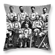 Baseball: Canada, 1874 Throw Pillow by Granger