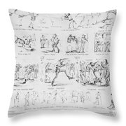 Baseball Cartoons, 1859 Throw Pillow