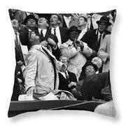 Baseball Crowd, 1962 Throw Pillow