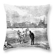 Baseball: England, 1874 Throw Pillow