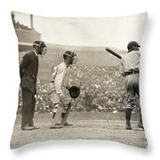 Baseball Game, 1908 Throw Pillow