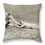 Baseball Game, C1887 Throw Pillow