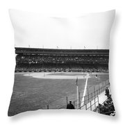 Baseball Game, C1912 Throw Pillow