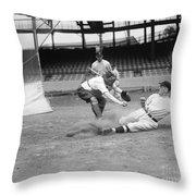 Baseball Game, C1915 Throw Pillow