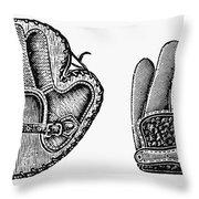 Baseball Mitt, C1900 Throw Pillow