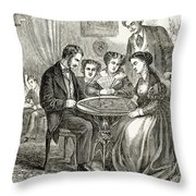 Baseball: Parlor Game Throw Pillow