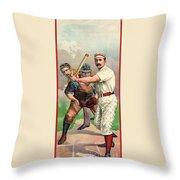 Baseball Player, C1895 Throw Pillow