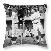Baseball Players, 1920s Throw Pillow