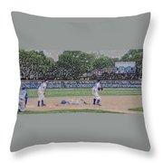 Baseball Playing Hard Digital Art Throw Pillow