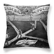 Baseball Polka, 1867 Throw Pillow