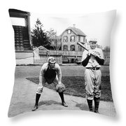 Baseball: Princeton, 1901 Throw Pillow
