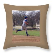 Baseball Step And Throw From Third Base Throw Pillow