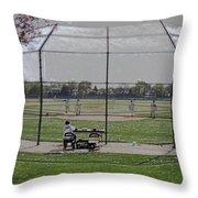 Baseball Warm Ups Digital Art Throw Pillow