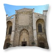 Basilica Of Saint Mary Madalene Throw Pillow by Lainie Wrightson
